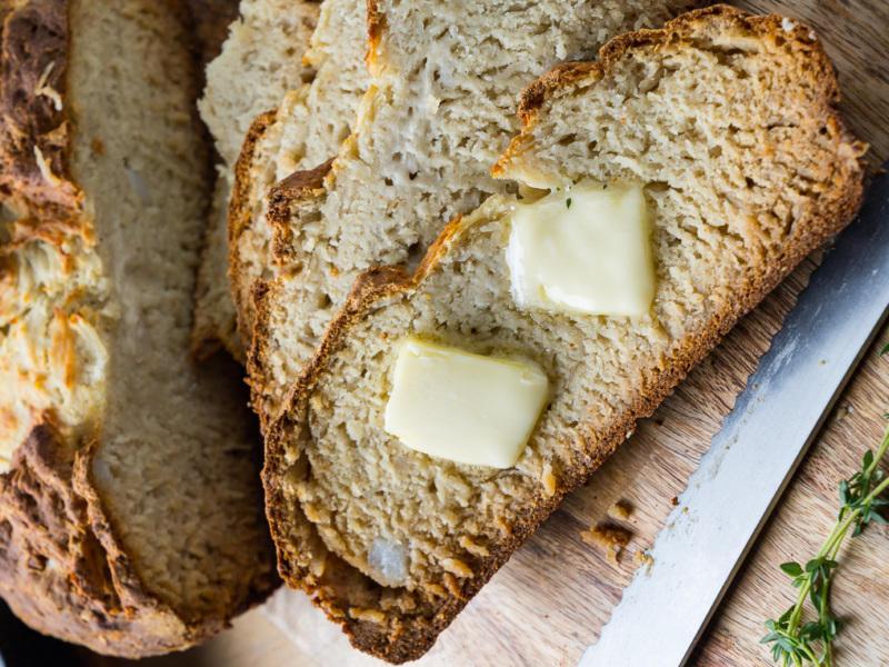 Картофельный хлеб без дрожжей на соде и кефире рецепт
