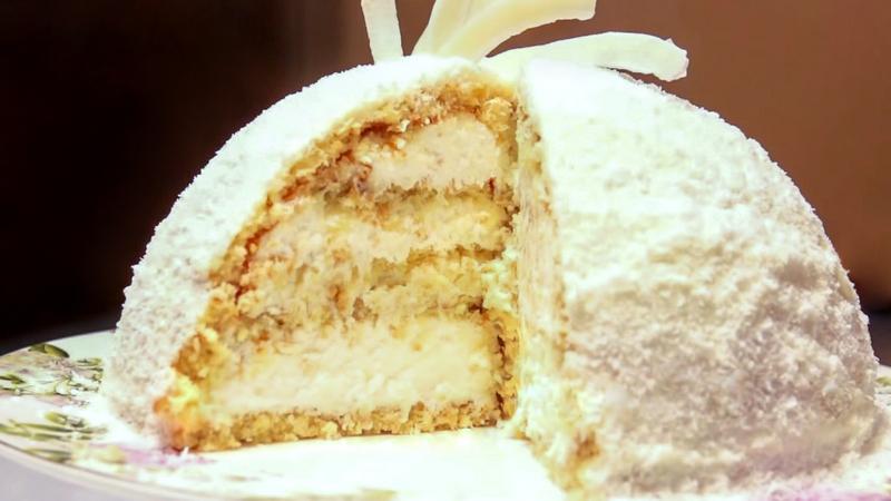 Торт конфета Рафаэлло рецепт от Бабушки Эммы