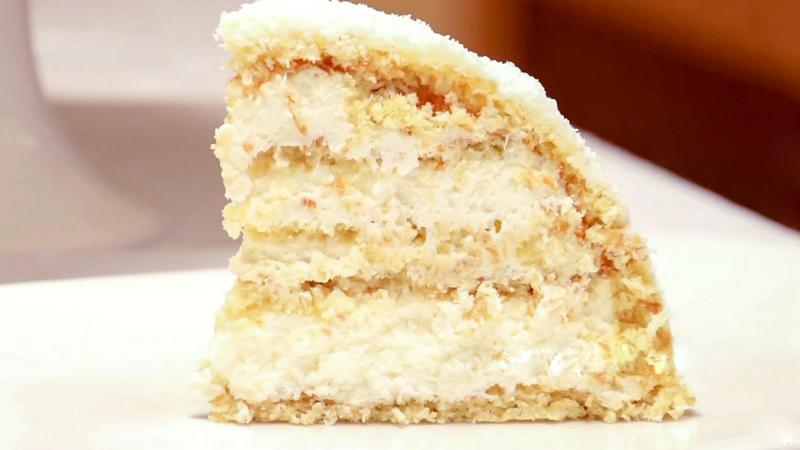 Торт конфета Рафаэлло разрез от Бабушки Эммы