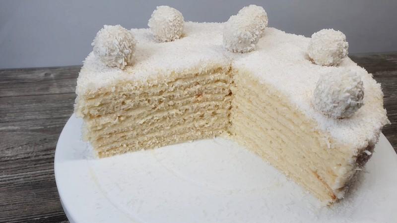 Торт Рафаэлло с творогом - доступный рецепт в домашних условиях