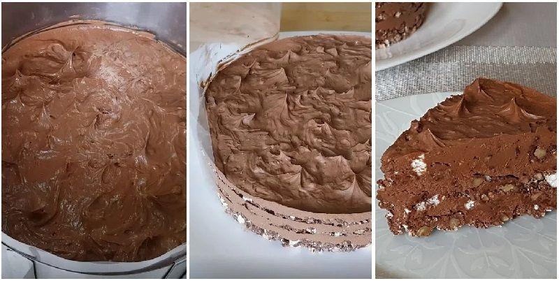 Торт Киевский без выпечки и духовки простой