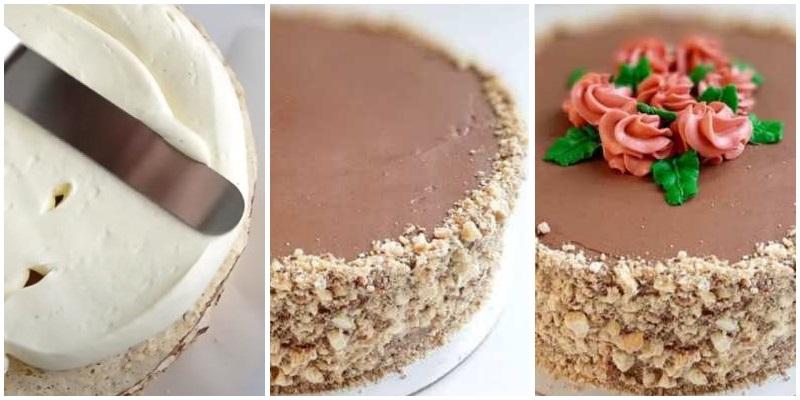 Как украсить торт Киевский по ГОСТу