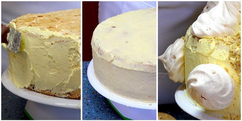 Как украсить Киевский торт в домашних условиях просто