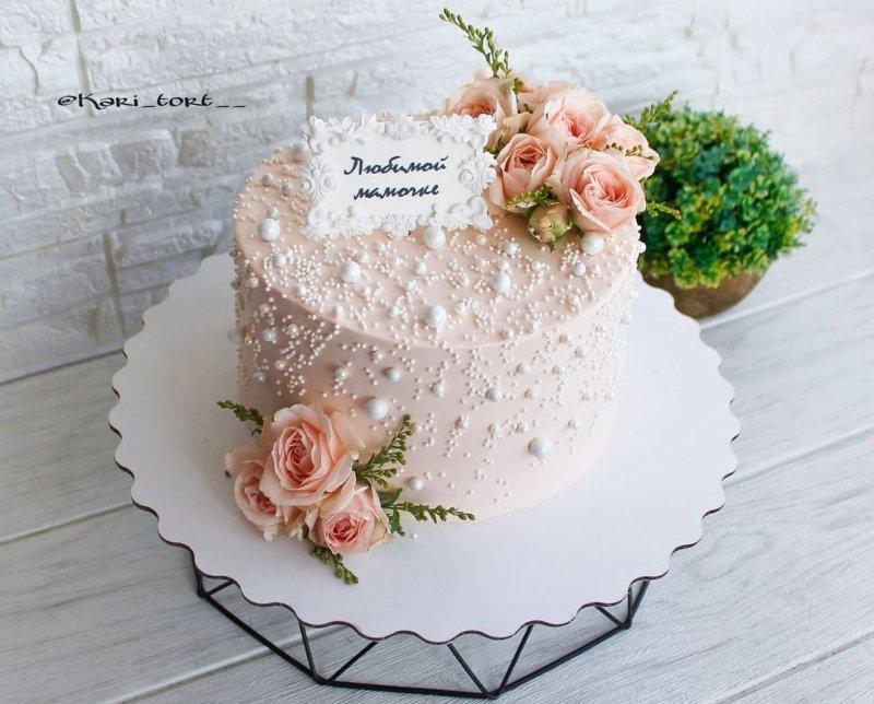 Торт жемчужина маме на день рождения