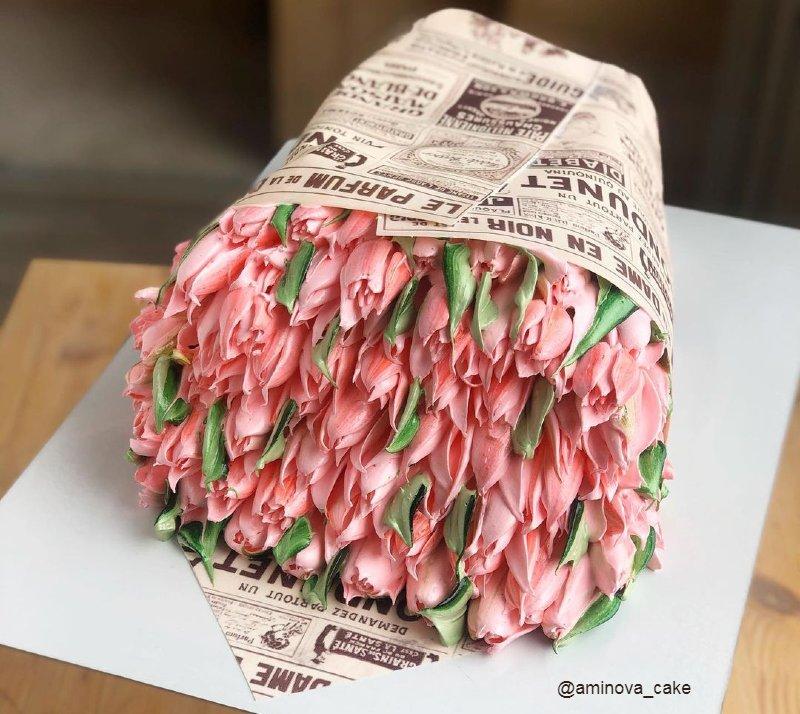 Торт на день рождения мамы без мастики