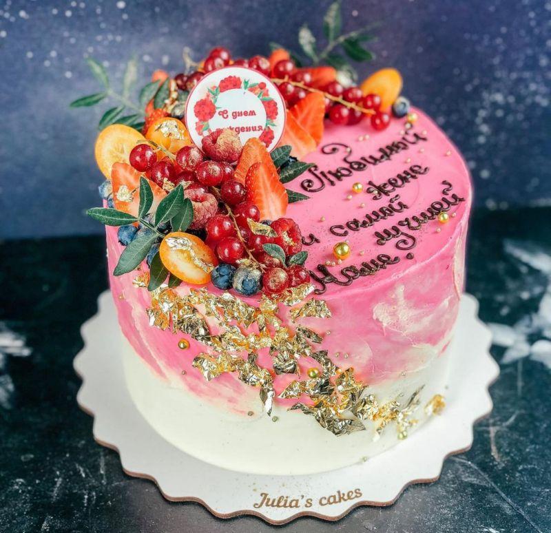 Шикарный торт женщине на юбилей