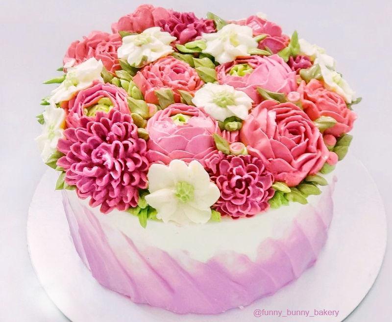 Торт кремовый для женщины