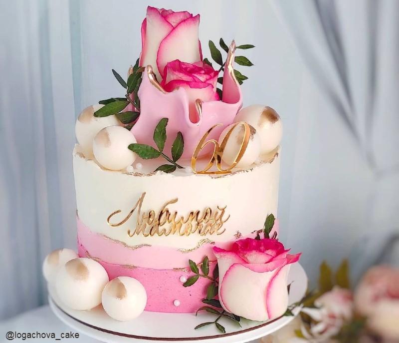 Торт любимой маме на 60 лет