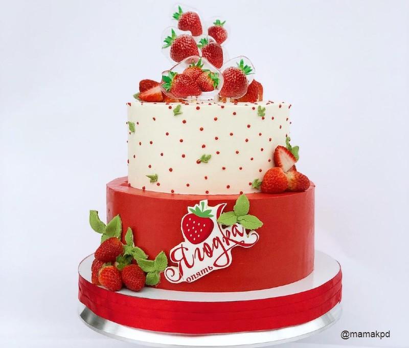Торт ягодка опять маме на 45 лет