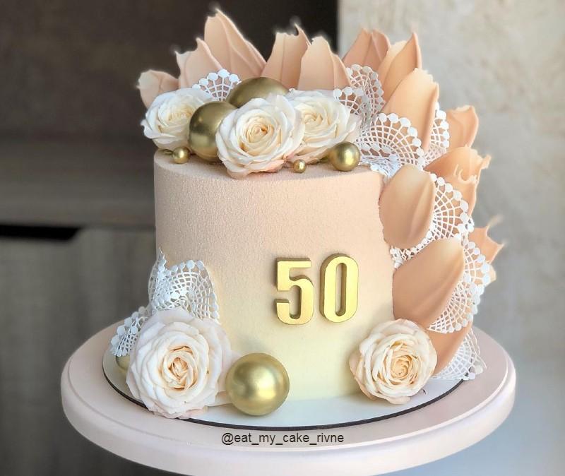 Торт маме на 50 лет