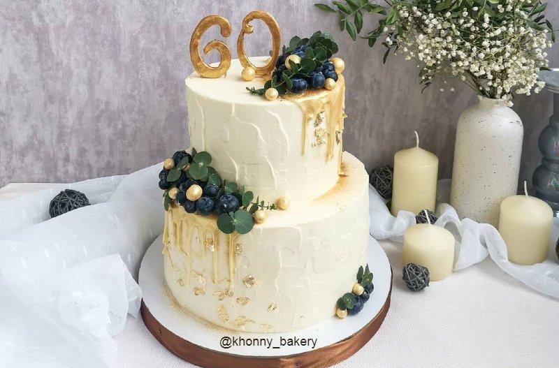 Торт женщине на 60 лет