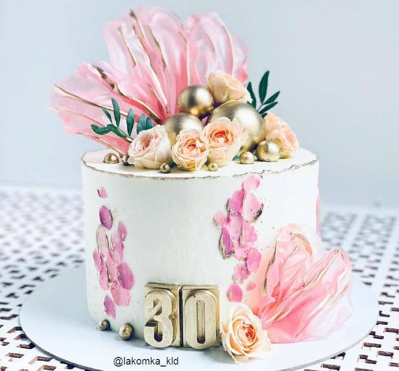 Торт женщине на 30 лет красивый