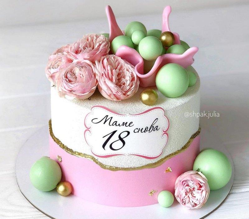 Торт маме снова 18 лет