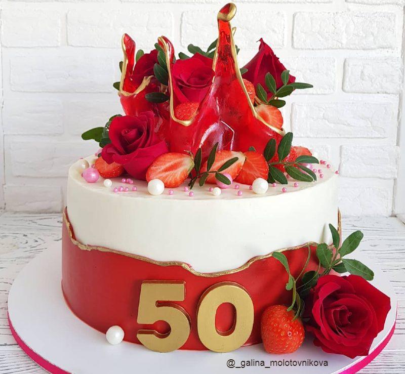 Торт для мамы на юбилей 50 лет