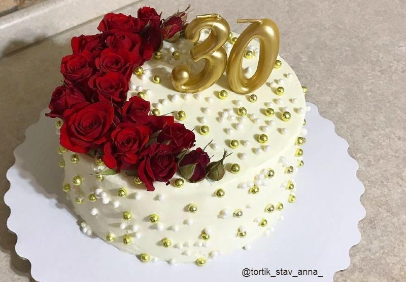 Как украсить торт женщине на день рождения в домашних условиях