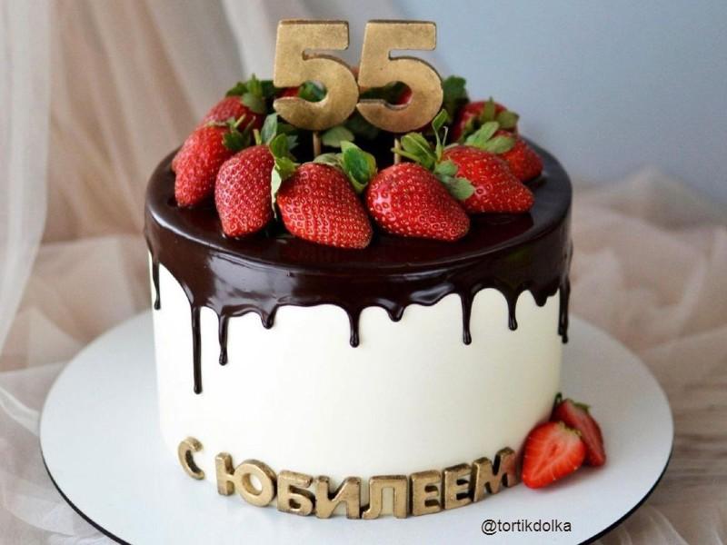 Торт женщине на юбилей 55 лет