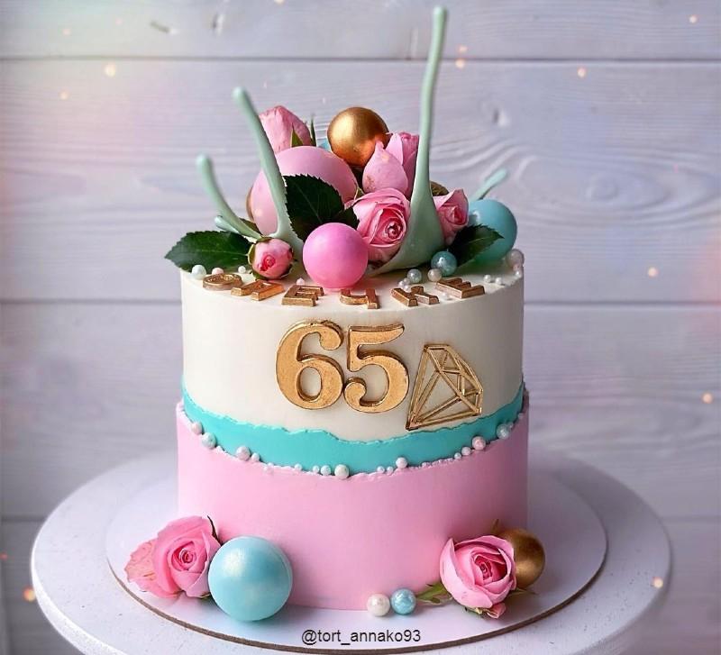 Торт маме на 65 лет