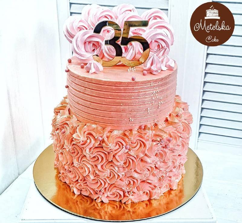 Вкусный торт женщине на юбилей