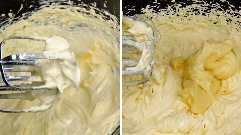 Крем заварной сметанный со сливочным маслом