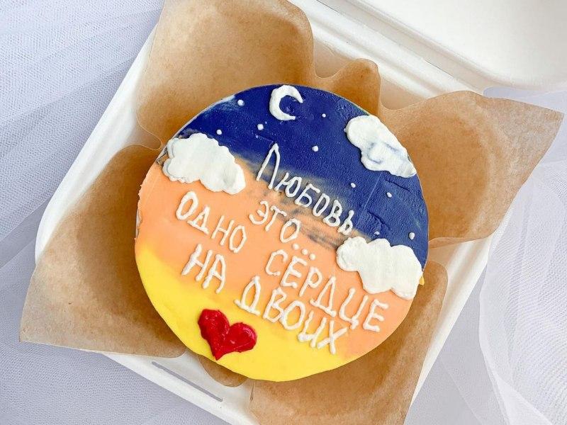 Бенто торт - любовь это одно сердце на двоих