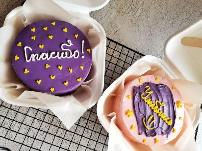 Бенто торт Спасибо фото