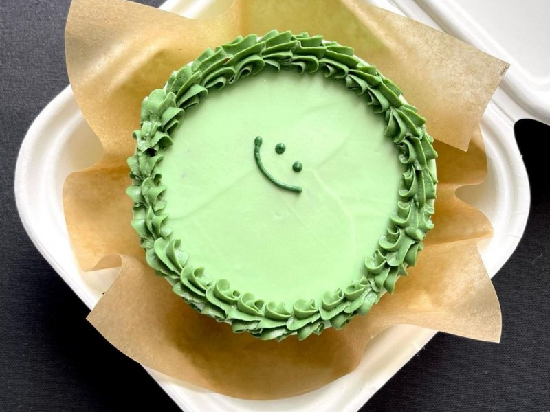 Зеленый бенто торт фото