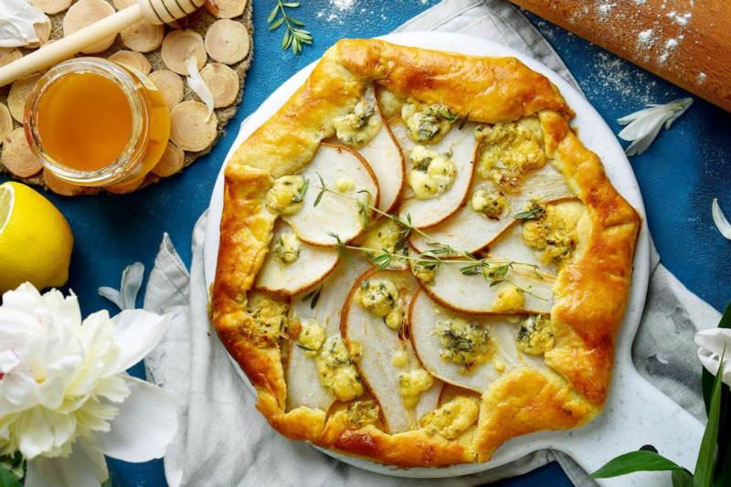 Галета с грушей и сыром рецепт