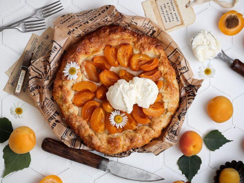 Творожная галета с абрикосами рецепт