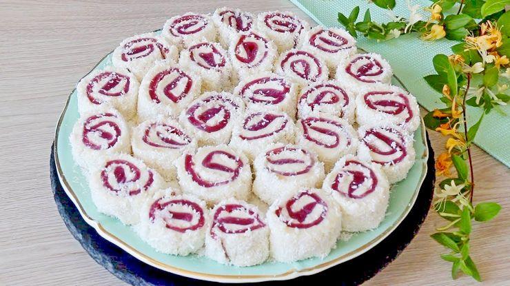 Гранатовый Султан Лукум рецепт нежного турецкого десерта Паша Лукум без выпечки