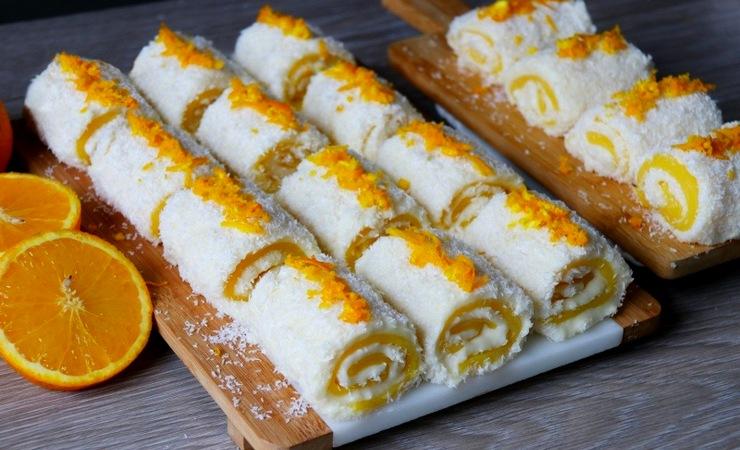 Апельсиновый Султан Лукум - рецепт нежного турецкого десерта Паша Лукум без выпечки
